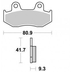 BRAKING Rear Brake Pads for YFZ 06-17