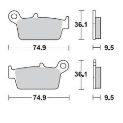 BRAKING Pads Kit (Rear)