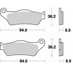 BREMBO Rear pads