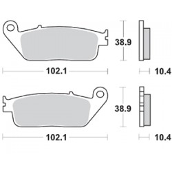 BRAKING Pads Kit for X-MAX400 13-
