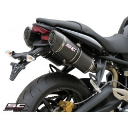 SC PROJECT OVAL Silencer for STREET TRIPLE 675 07-12