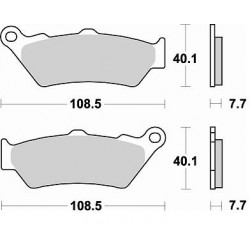 BRAKING Pads Rear Kit
