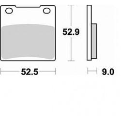 BRAKING Pads Rear Kit