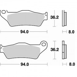 BRAKING Pads Kit