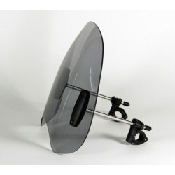 "MRA Roadshield Classic ""ROC"" Windshield with Mounting Set for 22mm/25mm Ø Handlebars"