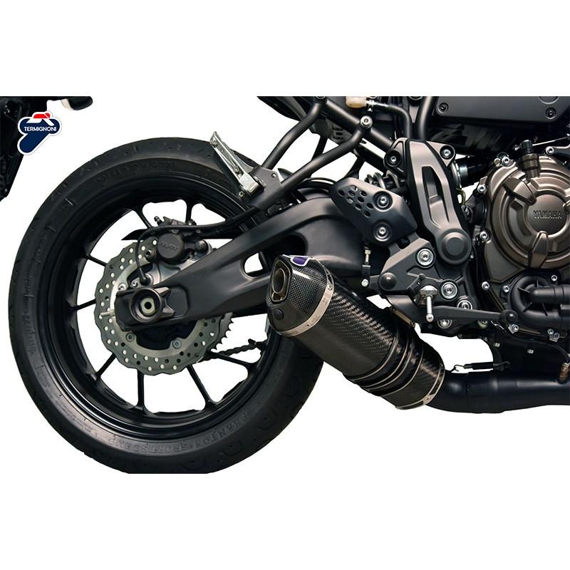 TERMIGNONI Escape Completo Com Ponteira Carbono Yamaha MT07 XSR700